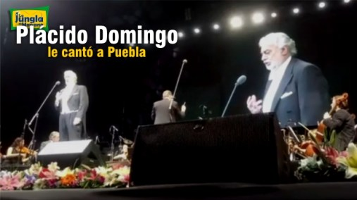 Plácido Domingo le cantó a Puebla LIVE VIDEO