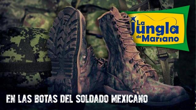 En las botas del soldado mexicano