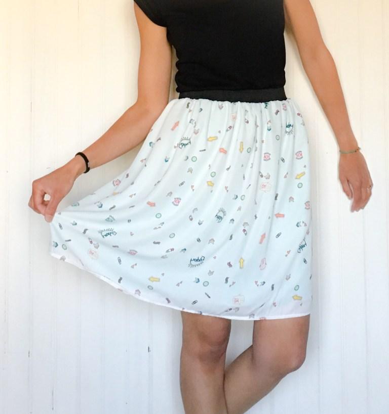 Jupe courte BD - La jupe Normande - vêtements et accessoires made in Normandie