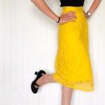 Jupe midi Lumineuse - La jupe Normande - vêtements et accessoires made in Normandie