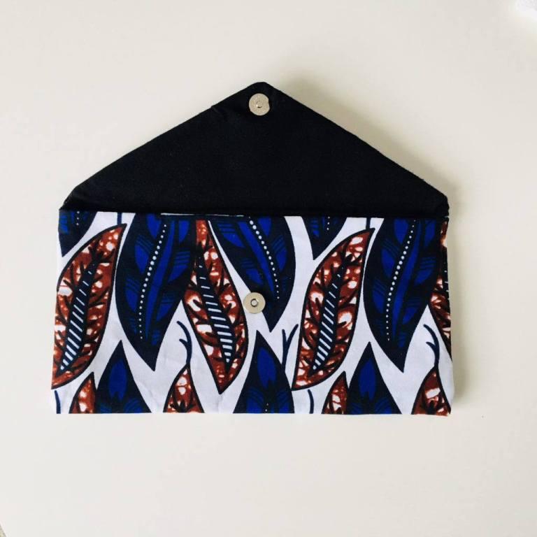 Pochette Wax - La jupe Normande - vêtements et accessoires made in Normandie