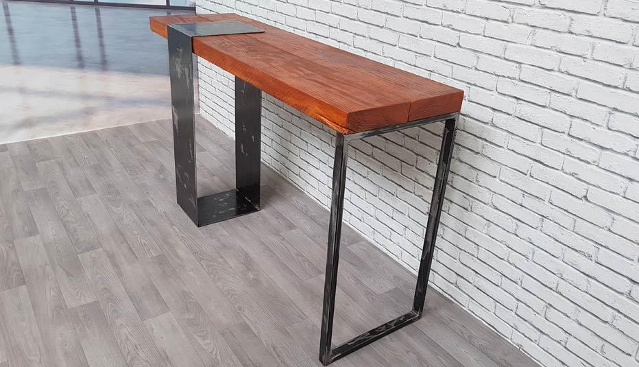 console bois et metal brut design la
