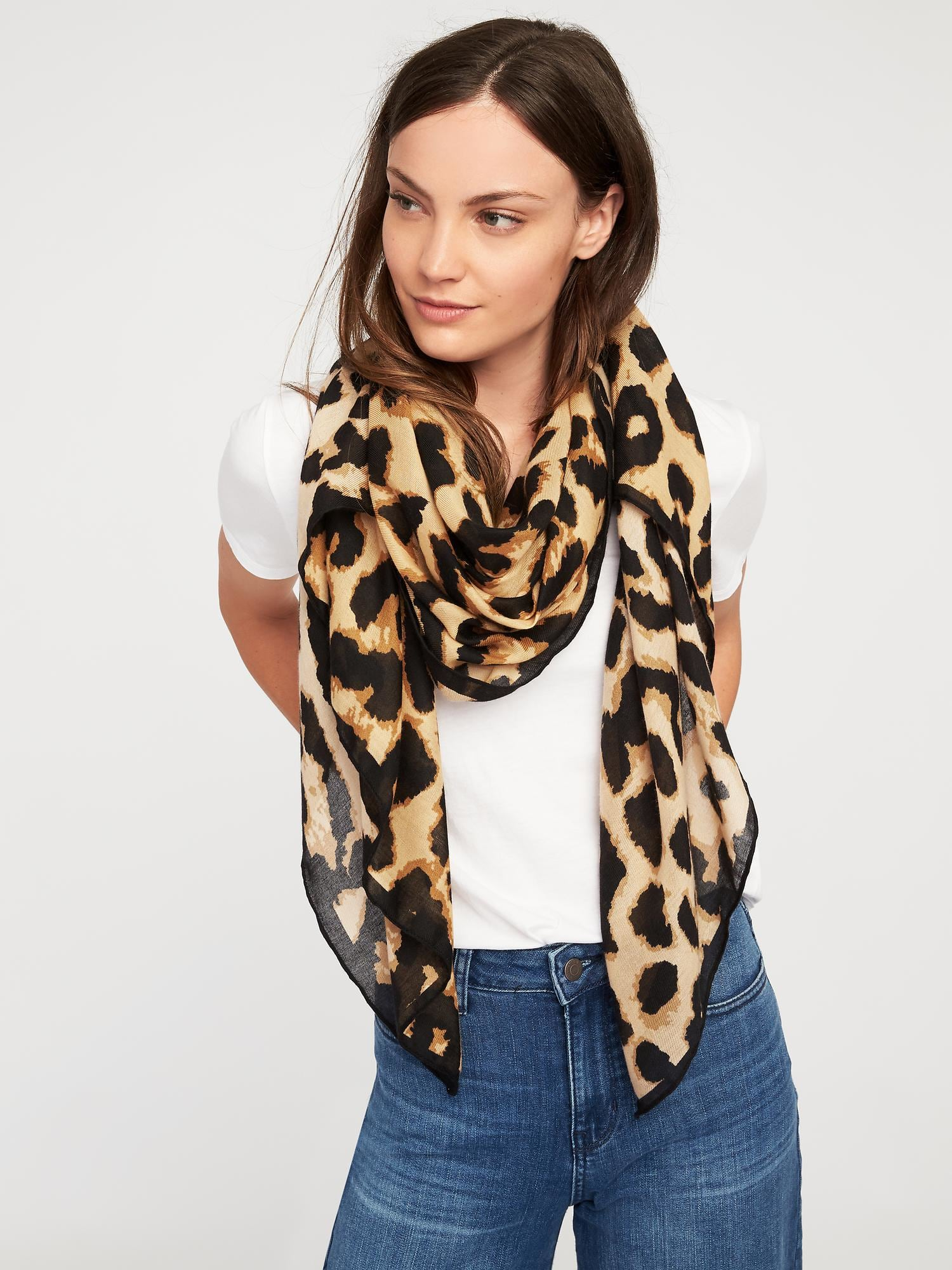 Animal Print Scarf From Old Navy