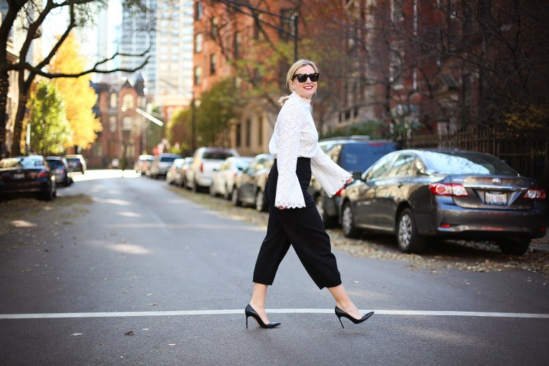 Winter party look from Banana Republic
