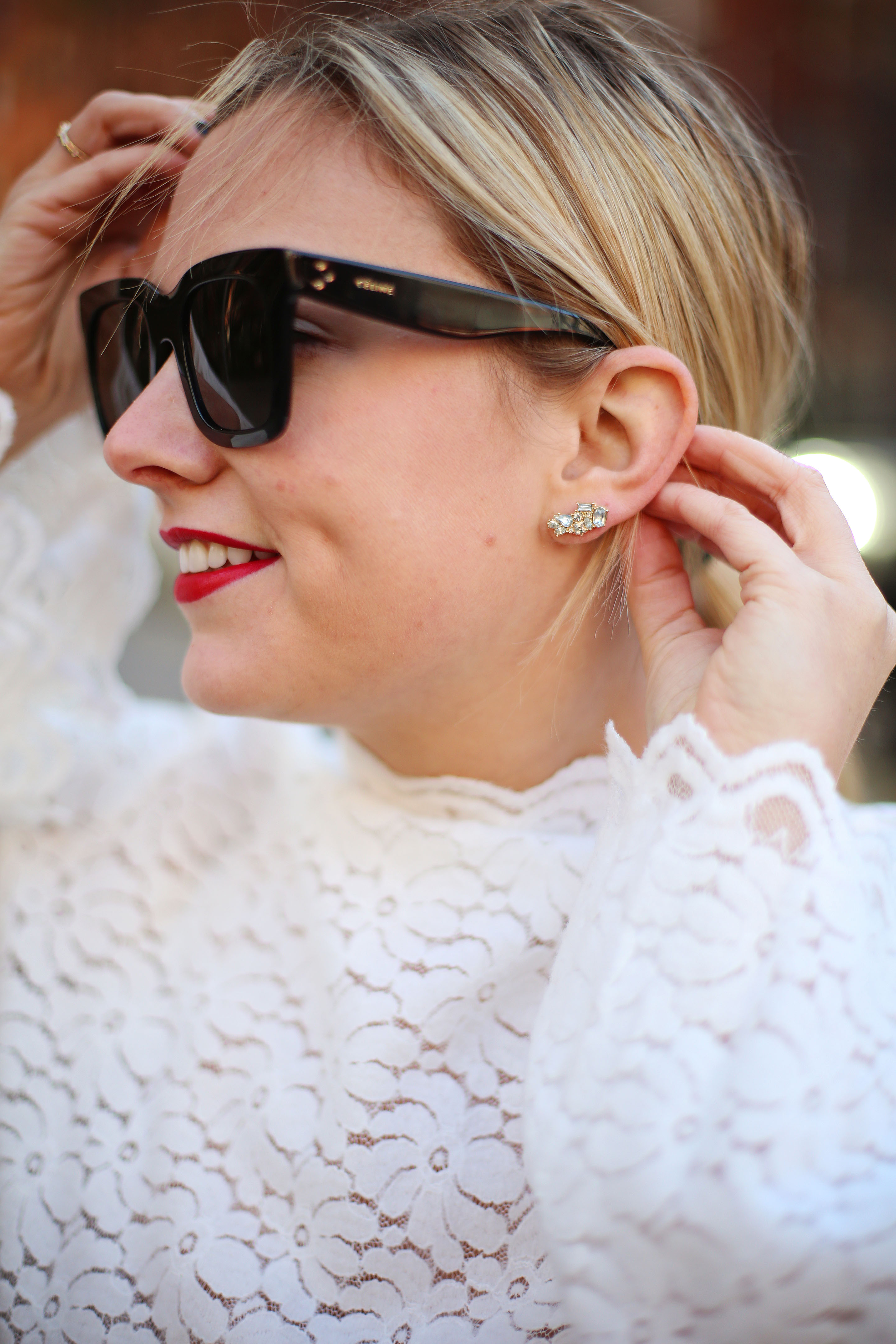 Holiday earrings by bauble bar
