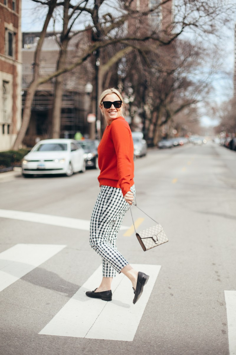My Spring Combo: Gingham & Cashmere
