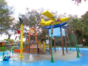 children s splash park 100 e ruby st tavares offers a seaplane themed water experience with two small water slides for little ones