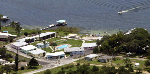 Aerial View of Lake Blue Resort
