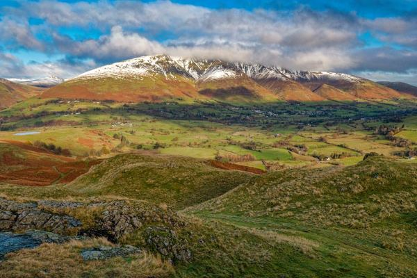 Photographic print of Blencathra, also known as Saddleback, one of the most northerly hills in the English Lake District. Taken by local photographer Andy Bell.