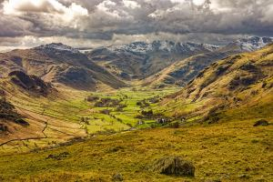Photographic print of Langdale valley in the Lake District National Park in North West England. Taken by local photographer Andy Bell.