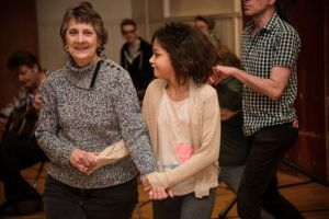 Contra Dancing at a previous LEFF shows the variety of ages and activities.