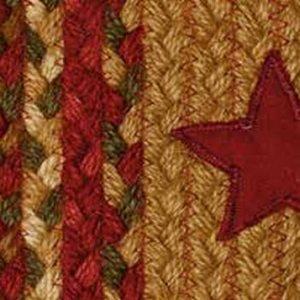 Cinnamon Star Braided Rugs by IHF