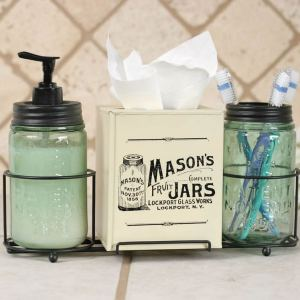 Mason Jar Bath Accessories