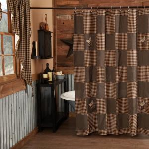 Farmhouse Star Shower Curtain