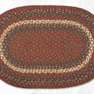 C-040 Burgundy/Gray Braided Rug