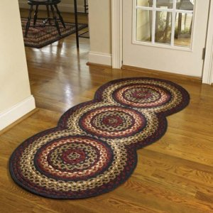 "Folk Art Braided Rug Runner 30"" x 72"" by Park Designs"