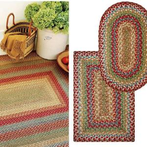 Azalea Multi Color Jute Braided Rugs by Homespice Decor