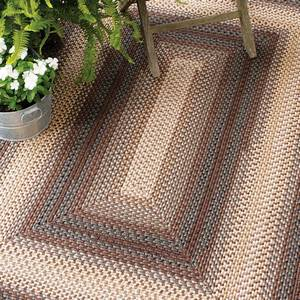 Ultra Durable Indoor/Outdoor Mixed Braided Rugs by Homespice Decor