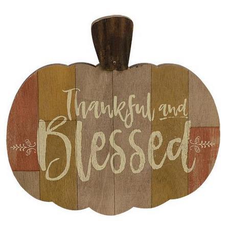 Thankful & Blessed Pumpkin