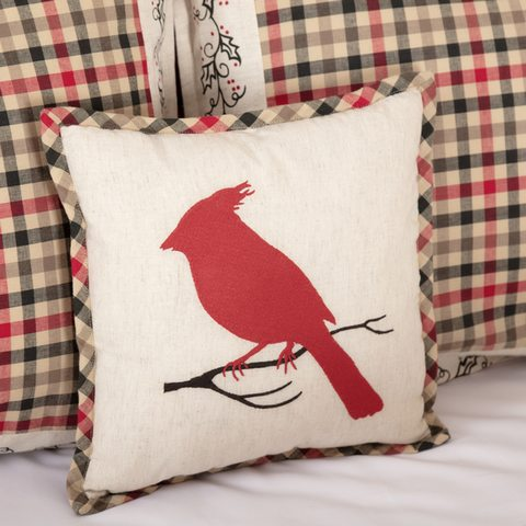 Hollis Cardinal Pillow 12x12