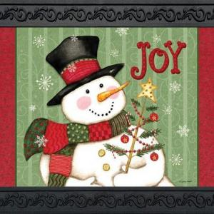 Snowman Joy Indoor Outdoor Doormat