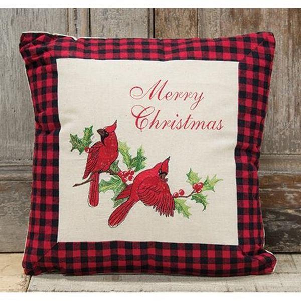 Holiday Cardinal Pillow