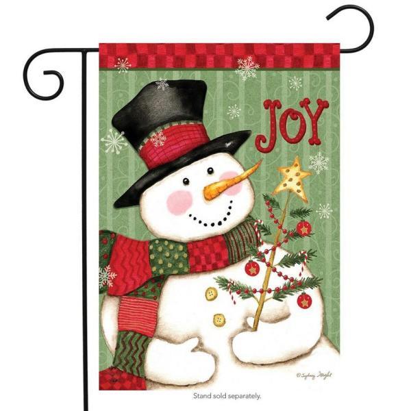 Snowman Joy Garden Flag