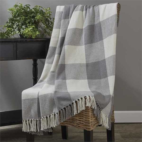 Wicklow Check Dove Throw by Park Designs
