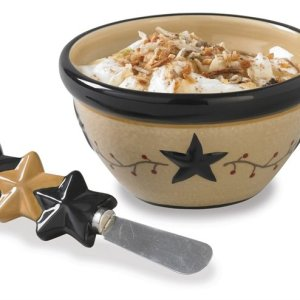 Star Vine Dip Bowl With Spreader by Park Designs