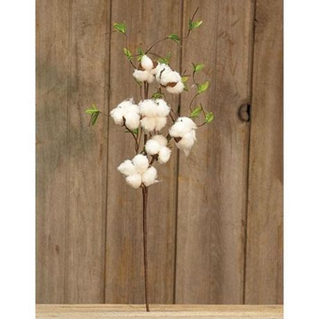 """Cotton & Willow Leaves Spray, 24"""""""