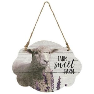 Farm Sweet Farm Sheep Wall Hanger