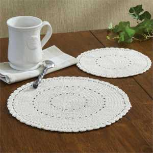 Cream Lace Trivet Set