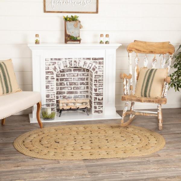 Celeste Natural Braided Jute Oval Rugs