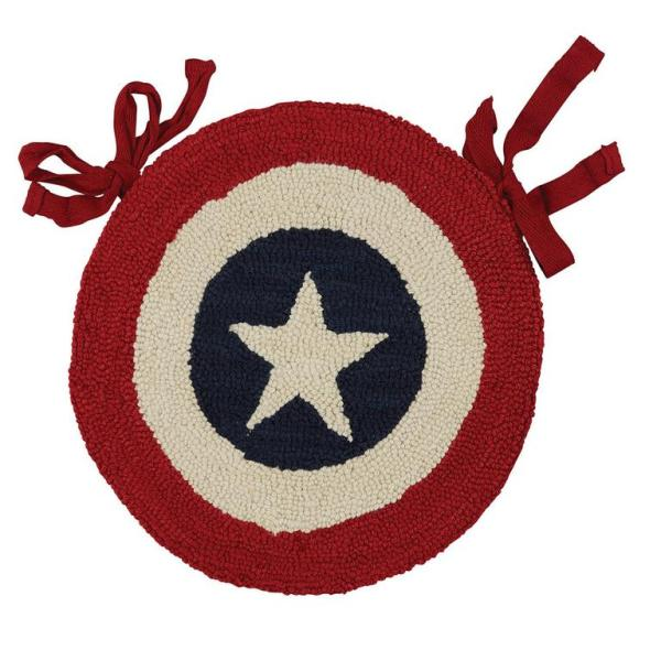 American Star Hooked Chair Pad