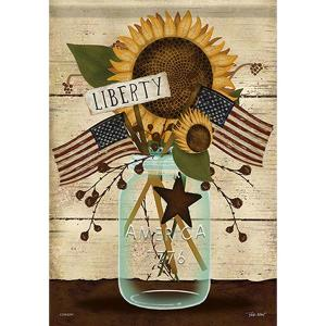 Liberty Mason Jar Garden Flag