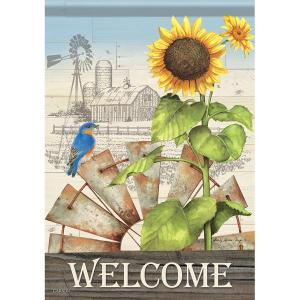 Windmill Welcome Garden Flag
