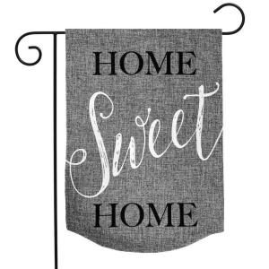 Home Sweet Home Burlap Garden Flag