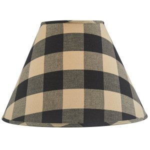 Wicklow Check Lampshade Black