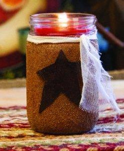 Warm Glow Primitive Jar Candle
