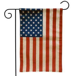 American Flag Burlap