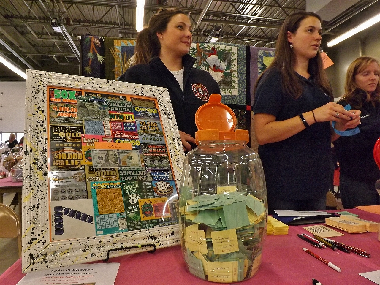 LG Fire Department Ladies Auxiliary annual basket sale