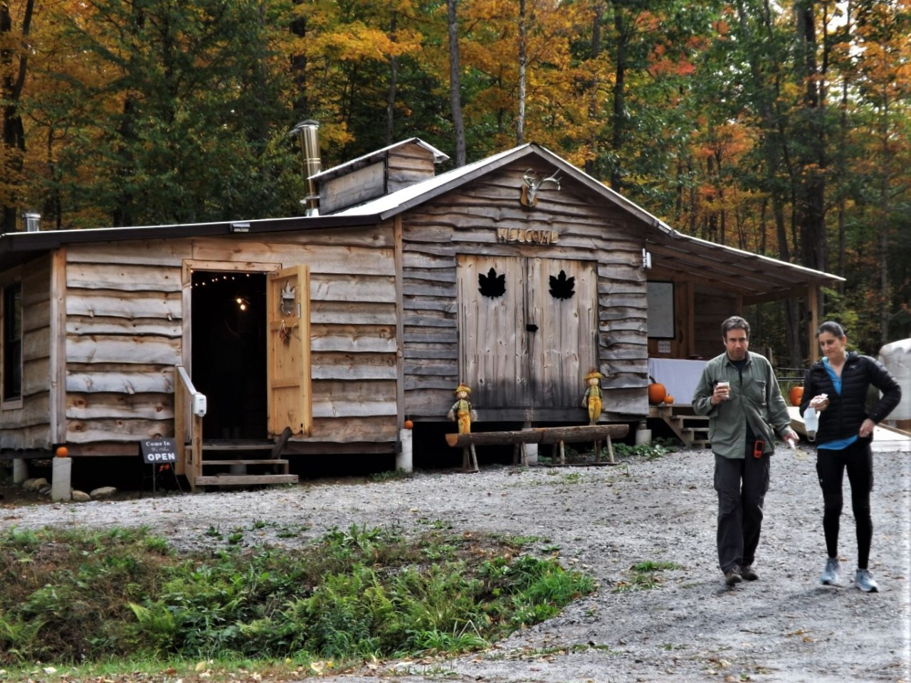 sugar shack at Mud Street Maple