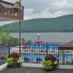 Balconies Overlooking the Lake and Pool