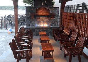 Beautiful new outdoor fireplace area
