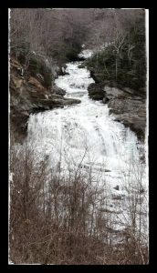 Cullasaja Falls, North Carolina waterfall, on the Gorge Road, below Highlands