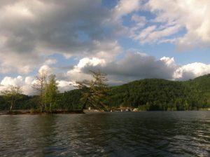 Lake Glenville Island in NC