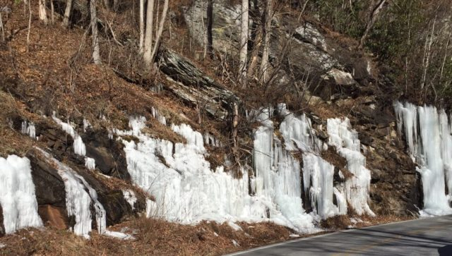 Icicles on Hwy 64, Highlands NC