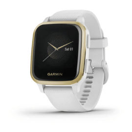 Light Gold Aluminum Bezel with White Case and Silicone Band
