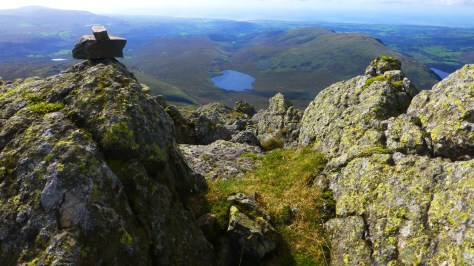 Burnmoor Tarn from Sca Fell summit
