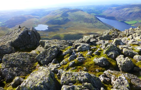 Burmoor Tarn and Wastwater from Sca Fell summit